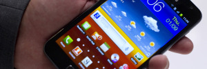 "A Samsung ""Galaxy Note"", bigger than a s"